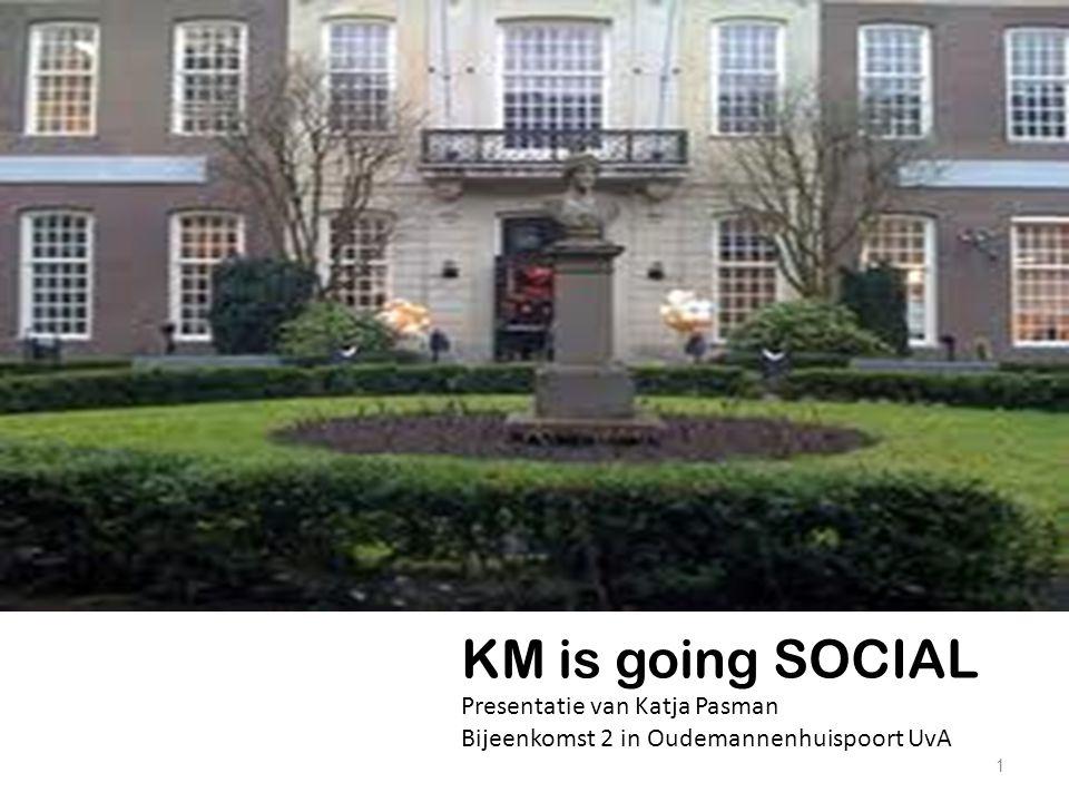 1 KM is going SOCIAL Presentatie van Katja Pasman Bijeenkomst 2 in Oudemannenhuispoort UvA