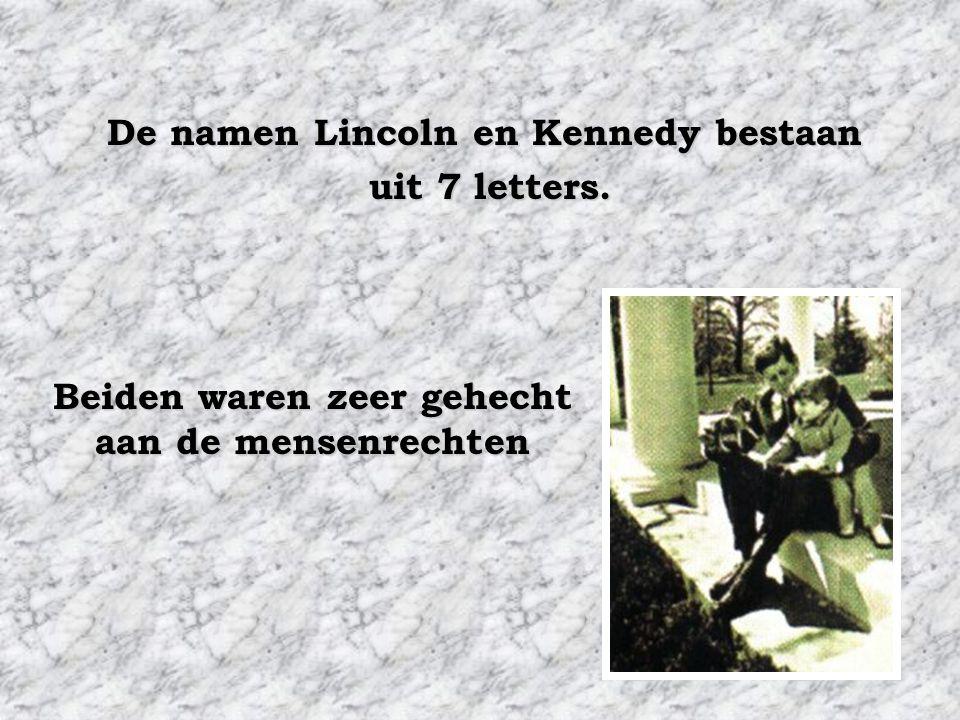 Abraham Lincoln werd in het congres gekozen in 1846. Abraham Lincoln werd president in 1860. John F. Kennedy werd in het congres gekozen in 1946. John