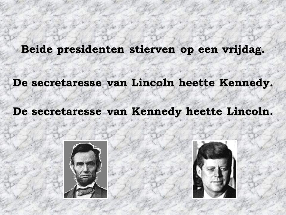 de echtgenotes van beide presidenten verloren ieder een kind tijdens hun verblijf in het Witte Huis. Beide presidenten werden gedood door een kogel in