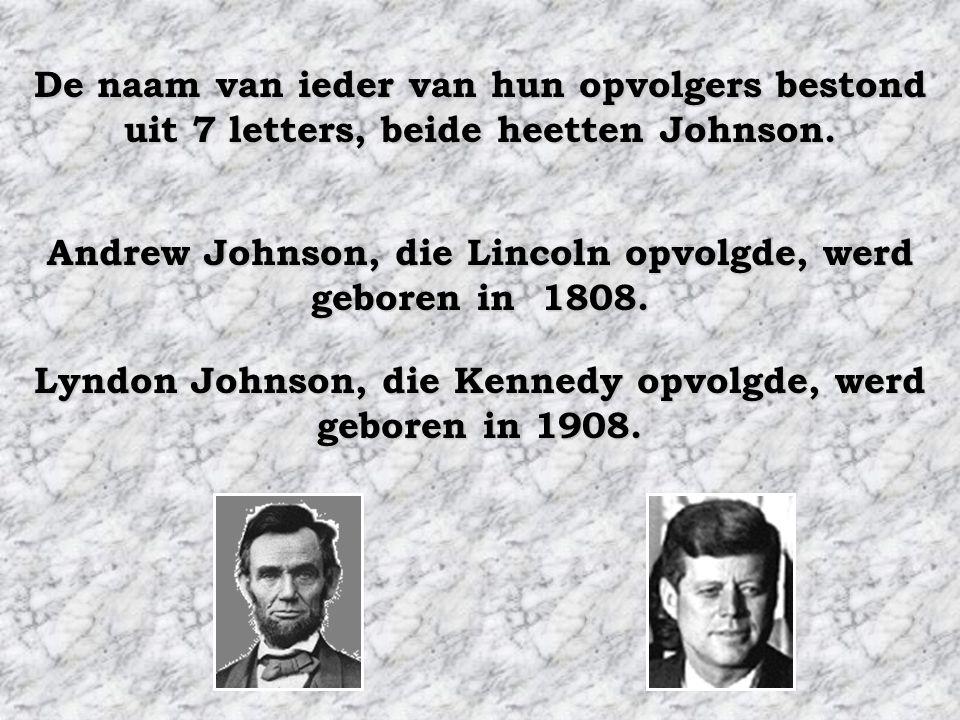 """Beide presidenten werden vermoord door """"zuiderlingen"""" Beide presidenten hadden als opvolger een """"zuiderling"""""""