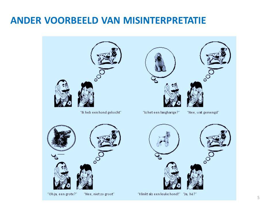 5 ANDER VOORBEELD VAN MISINTERPRETATIE