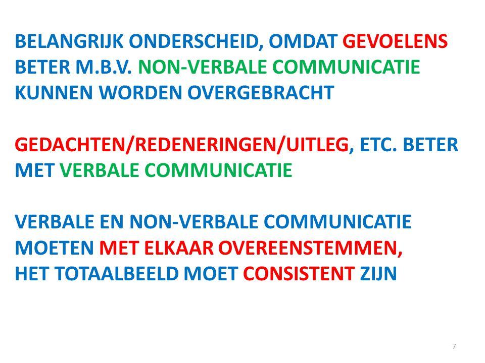 7 BELANGRIJK ONDERSCHEID, OMDAT GEVOELENS BETER M.B.V.