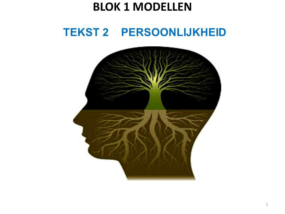 BLOK 1 MODELLEN 1 TEKST 2 PERSOONLIJKHEID