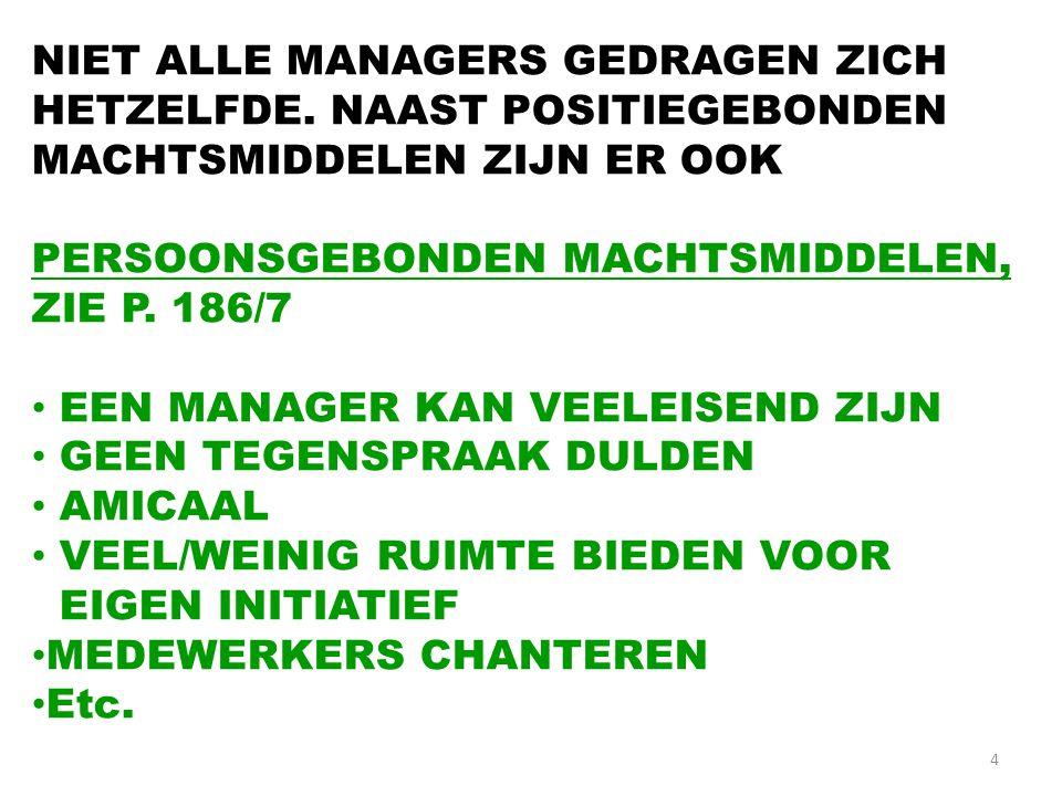 4 NIET ALLE MANAGERS GEDRAGEN ZICH HETZELFDE.