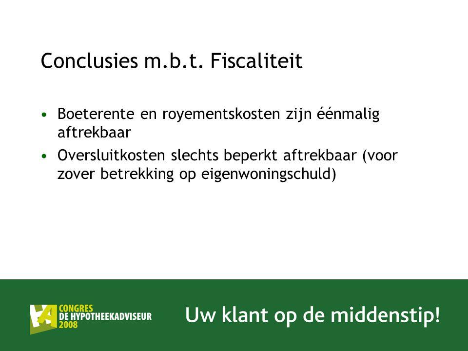Conclusies m.b.t.