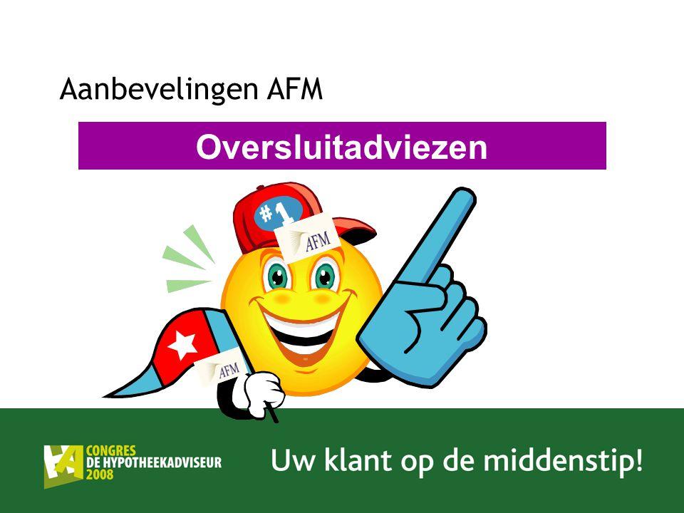 Aanbevelingen AFM Oversluitadviezen