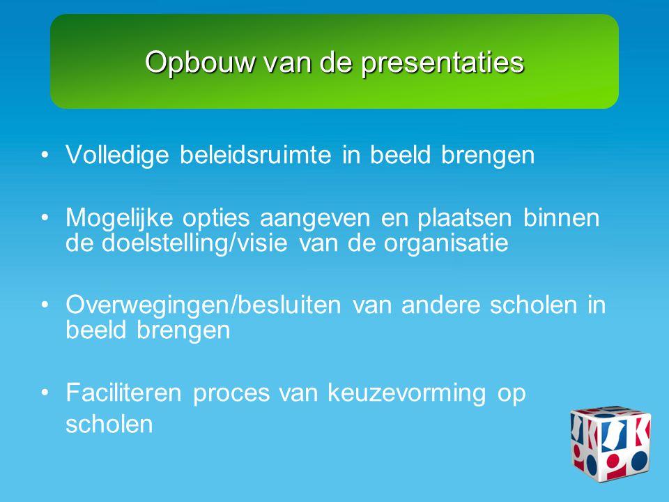 Informatie met als doel om binnen de school samen met de schooldirectie passende keuzes te kunnen maken.