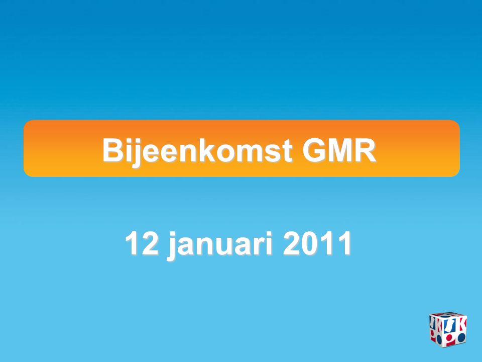 Bijeenkomst GMR 12 januari 2011