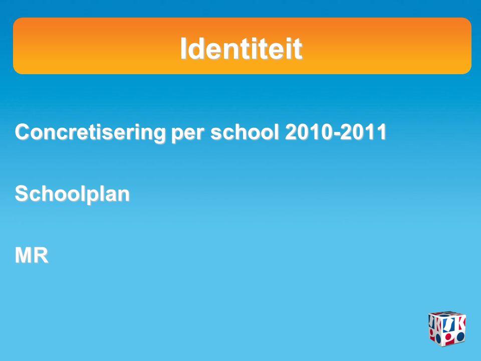 Identiteit Concretisering per school 2010-2011 SchoolplanMR