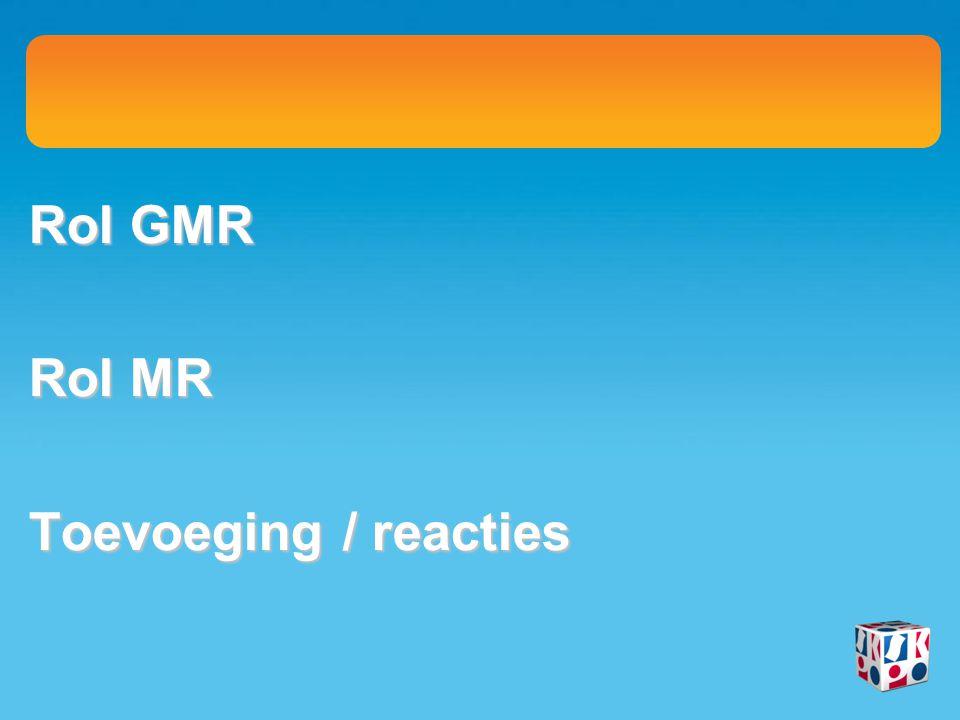 Rol GMR Rol MR Toevoeging / reacties