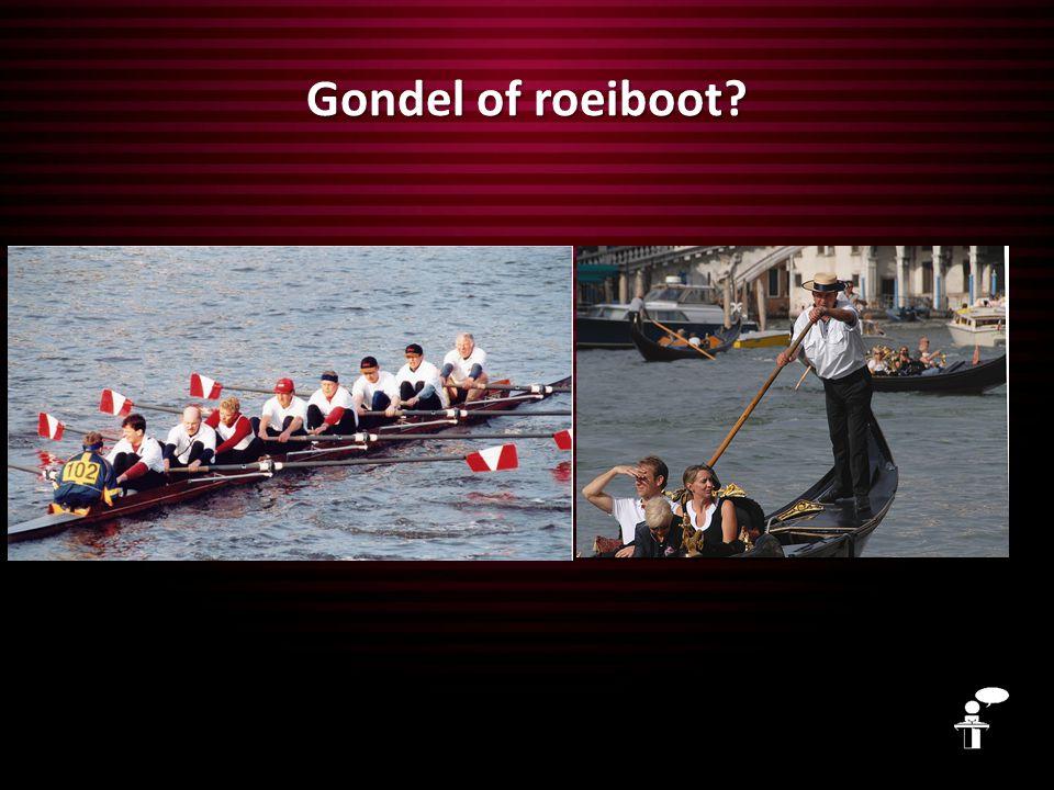 Gondel of roeiboot?