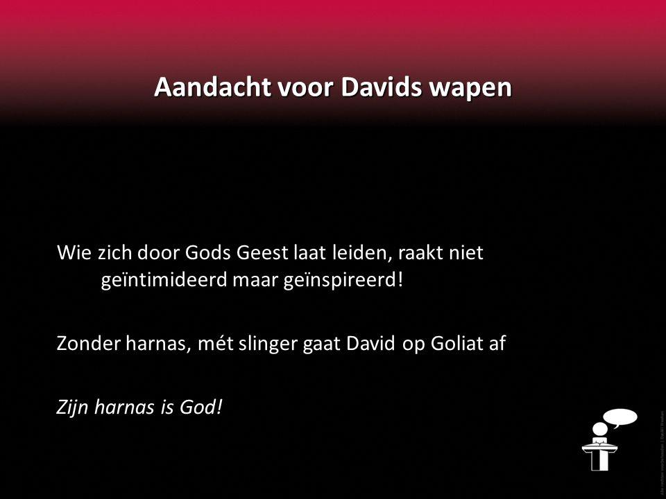 Aandacht voor Davids wapen Wie zich door Gods Geest laat leiden, raakt niet geïntimideerd maar geïnspireerd.