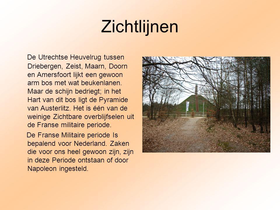 Zichtlijnen De Utrechtse Heuvelrug tussen Driebergen, Zeist, Maarn, Doorn en Amersfoort lijkt een gewoon arm bos met wat beukenlanen. Maar de schijn b