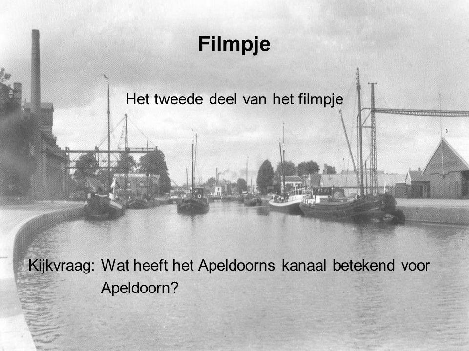 Filmpje Het tweede deel van het filmpje Kijkvraag: Wat heeft het Apeldoorns kanaal betekend voor Apeldoorn