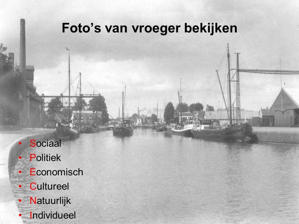 Foto's van vroeger bekijken Sociaal Politiek Economisch Cultureel Natuurlijk Individueel