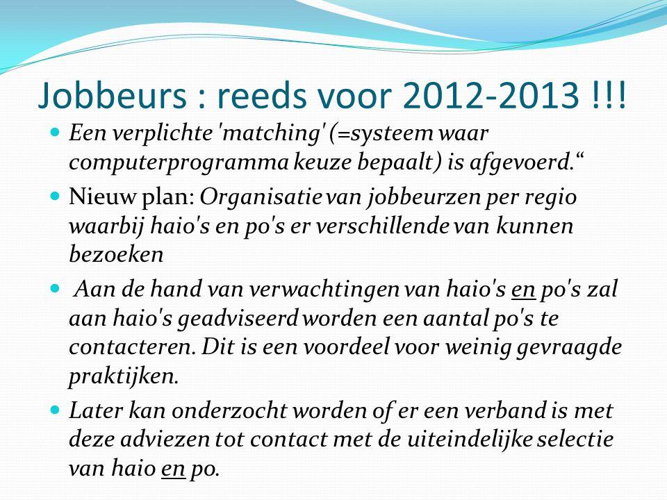 Jobbeurs : reeds voor 2012-2013 !!.