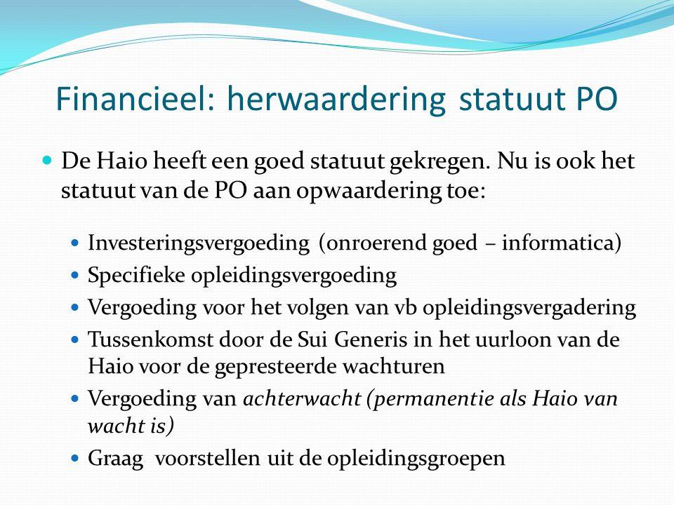 Financieel: herwaardering statuut PO De Haio heeft een goed statuut gekregen.