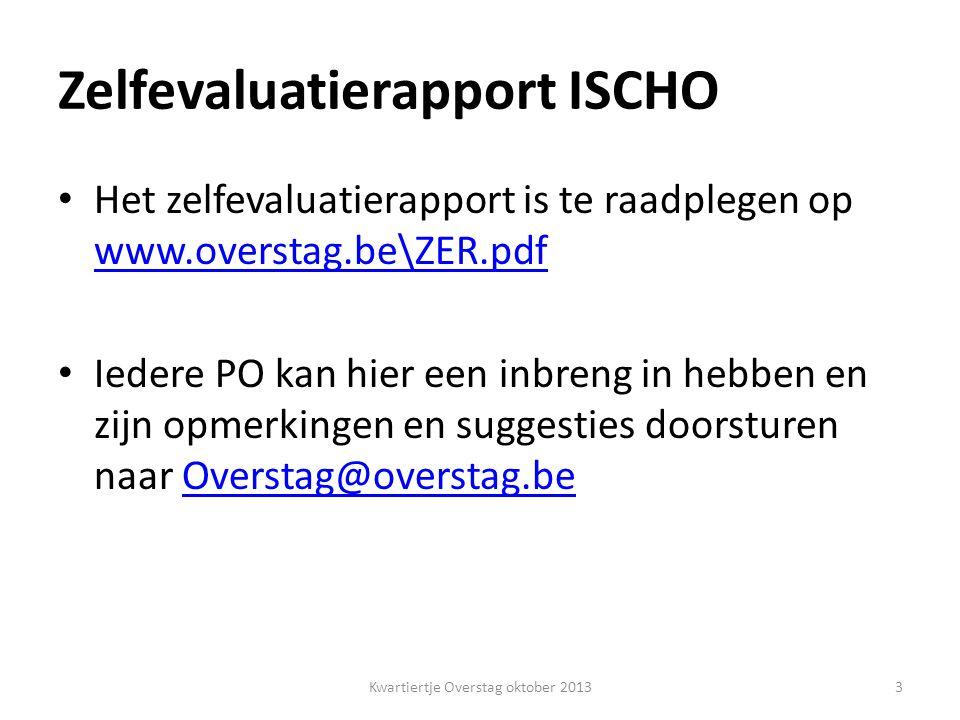 Zelfevaluatierapport ICHO Standpunt Overstag .