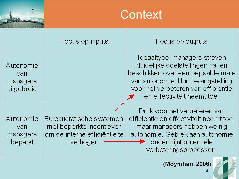 4 Context (Moynihan, 2006)