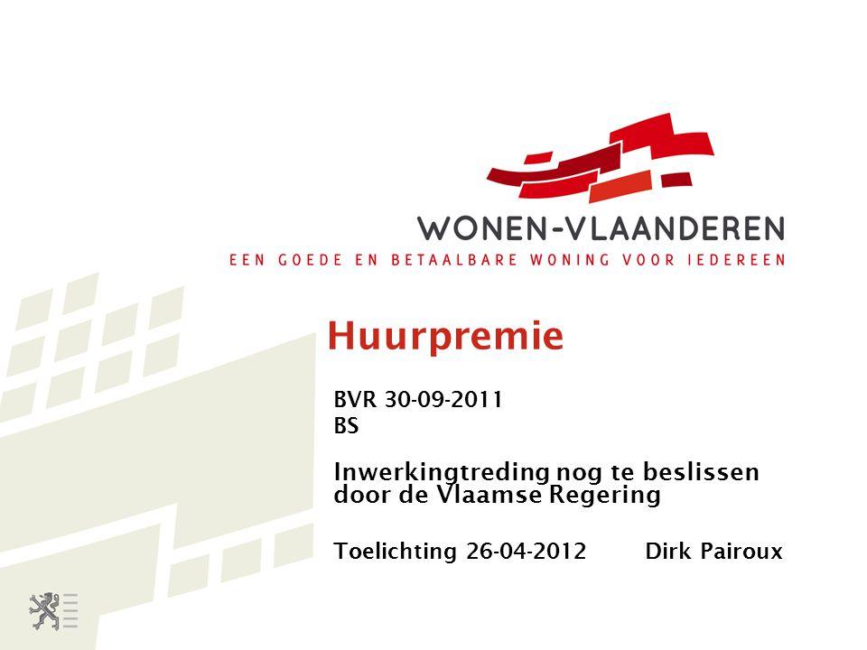 Opschorting van de huurpremie De huurwoning is niet conform Blijkt uit onderzoeksverslag van Wonen-Vlaanderen Gevolg: de huurder heeft 9 maanden tijd na opsturen onderzoeksverslag om de woning in orde te (laten) maken.