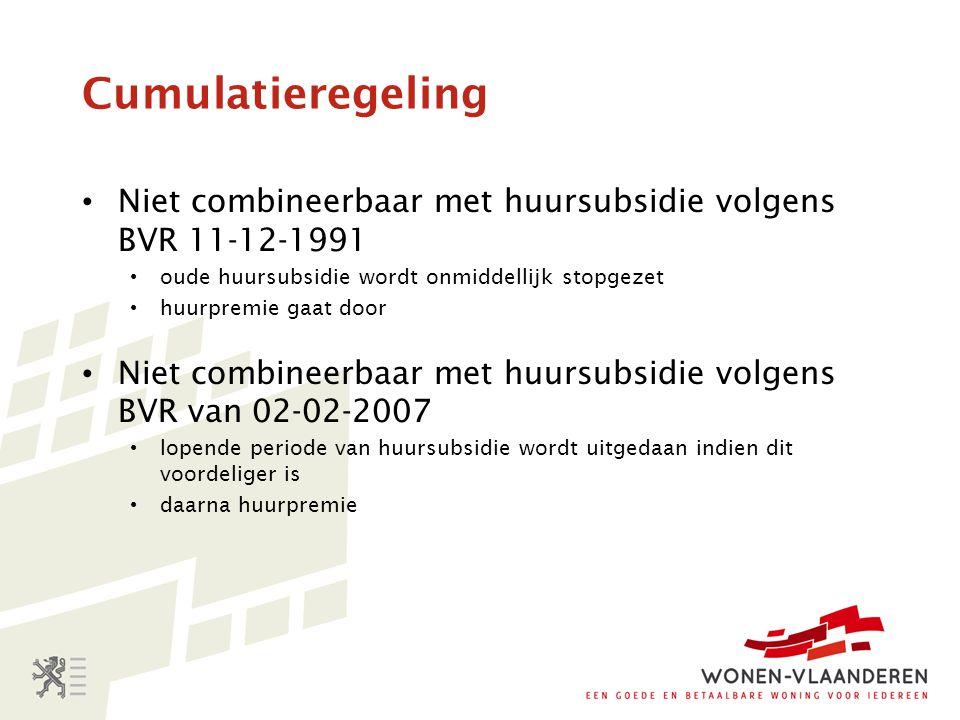 Administratieve afhandeling 1.Wonen-Vlaanderen (Brussel) vertrekt van de gegevens over de kandidaat-huurders zoals gekend bij de sociale huisvestingsmaatschappijen; 2.Wonen-Vlaanderen stuurt een invulformulier en toelichtingsbrochure naar de potentieel rechthebbenden (PR) (vanaf 4 jaar en 11 maanden op de wachtlijst) 3.De PR stuurt invulformulier en huurcontract naar Wonen-Vlaanderen 4.Wonen-Vlaanderen deelt de beslissing mee ( max.
