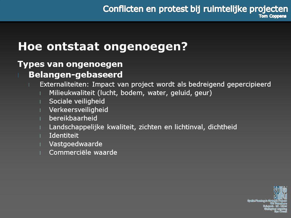 Uitkomst van protest l Escalatie -> conflicten wekken nieuwe conflicten op .