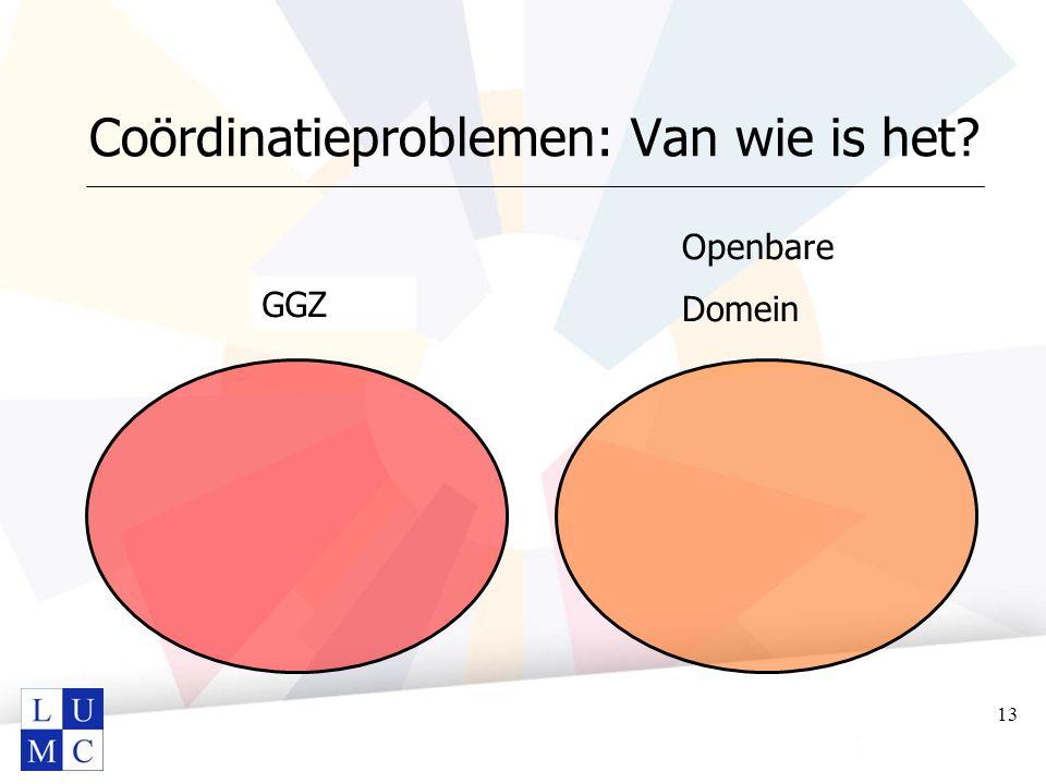 Coördinatieproblemen: Van wie is het? Openbare Domein GGZ 13