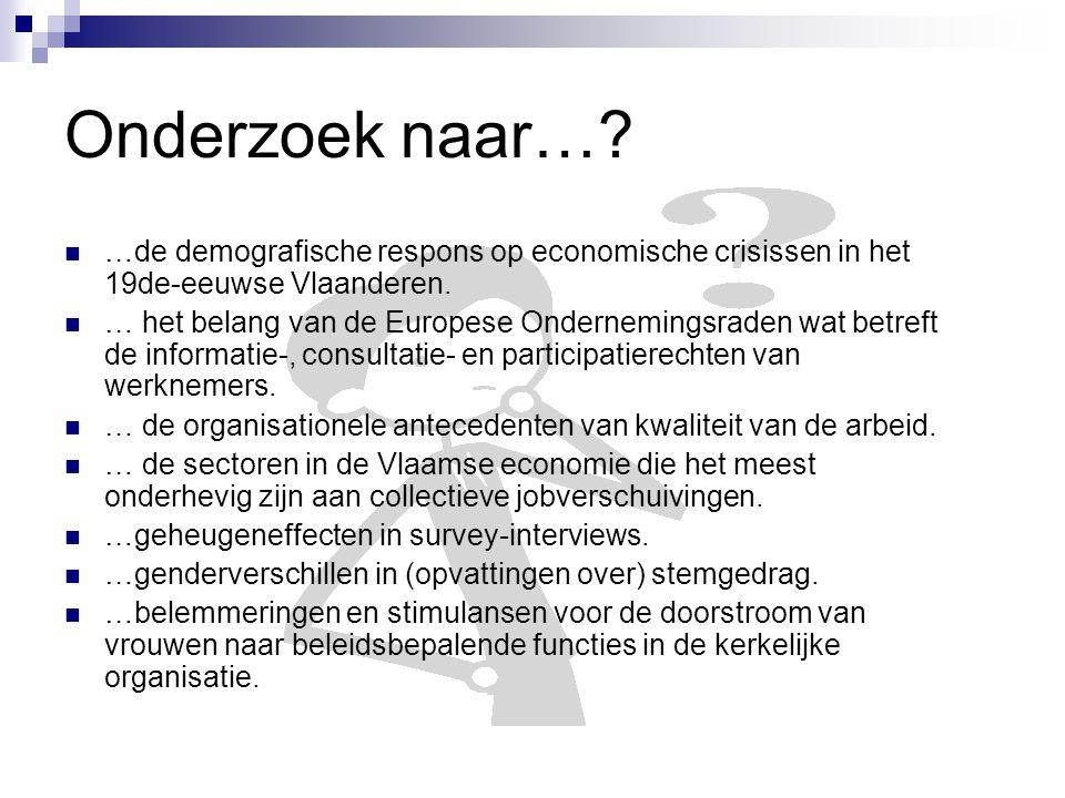 Onderzoek naar…. …de demografische respons op economische crisissen in het 19de-eeuwse Vlaanderen.