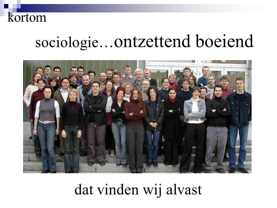 kortom sociologie… ontzettend boeiend dat vinden wij alvast