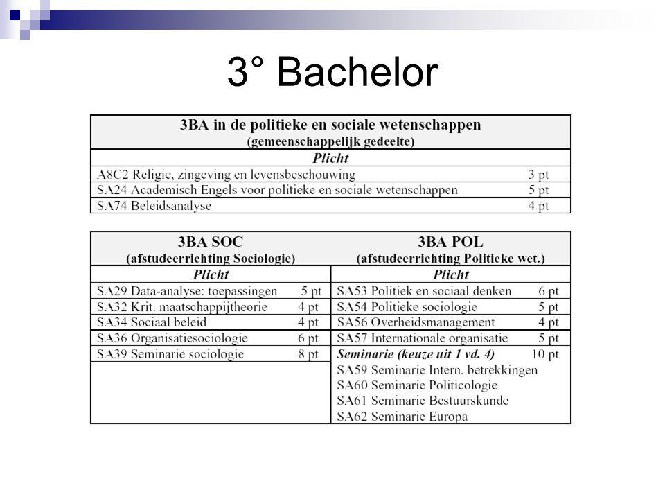 3° Bachelor