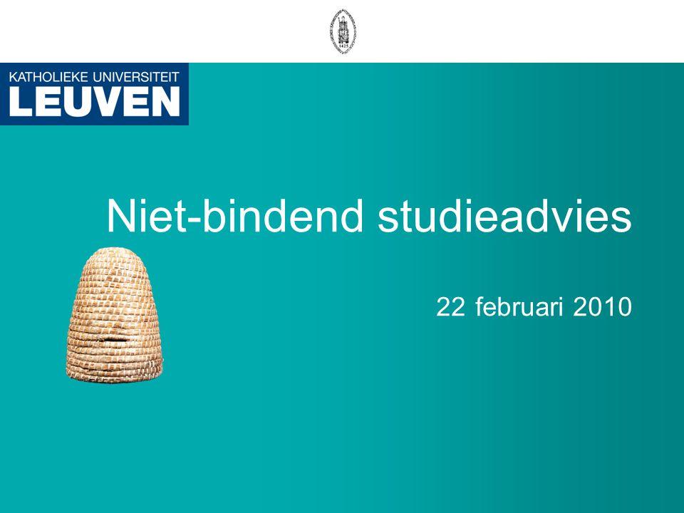 Niet-bindend studieadvies 22 februari 2010