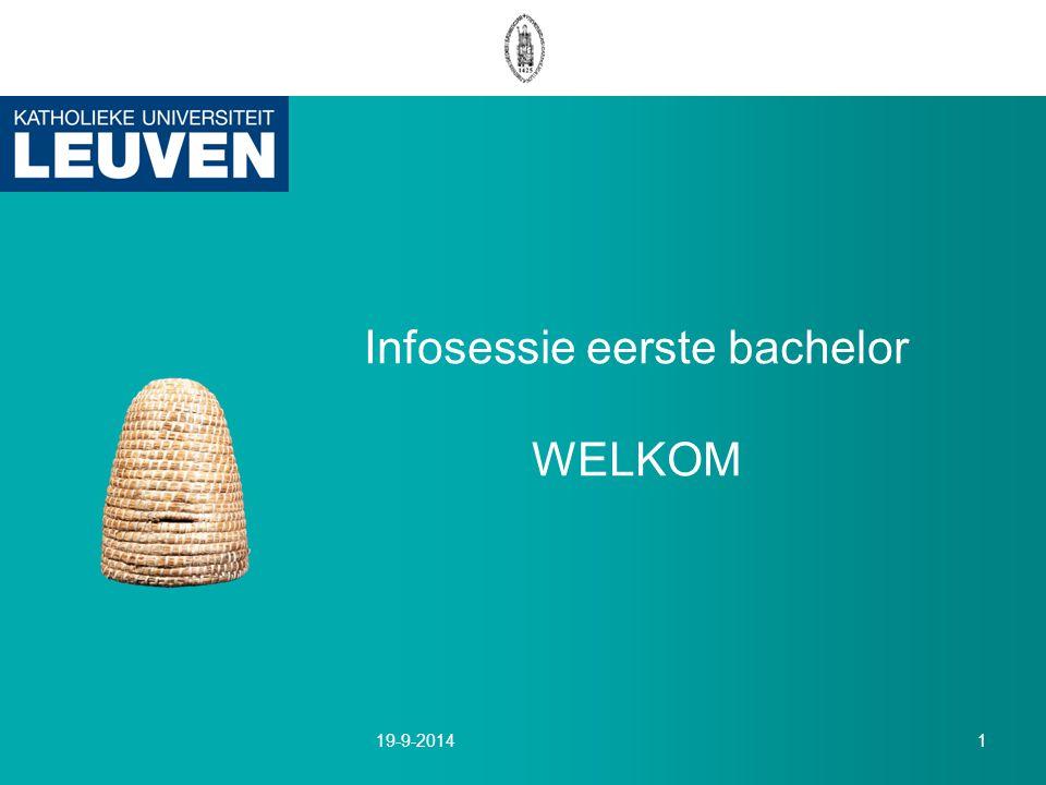 Infosessie eerste bachelor WELKOM 19-9-20141