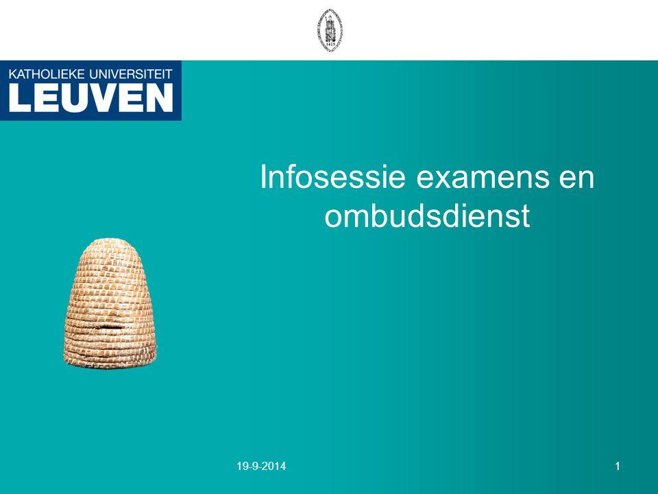 Infosessie examens en ombudsdienst 19-9-20141