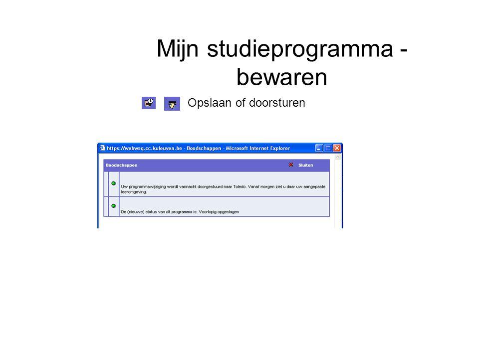 Mijn studieprogramma - bewaren Opslaan of doorsturen