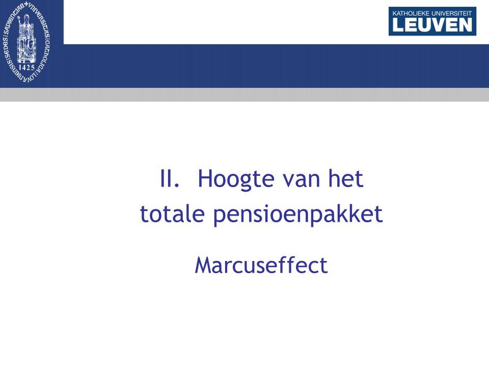II.Hoogte van het totale pensioenpakket Marcuseffect
