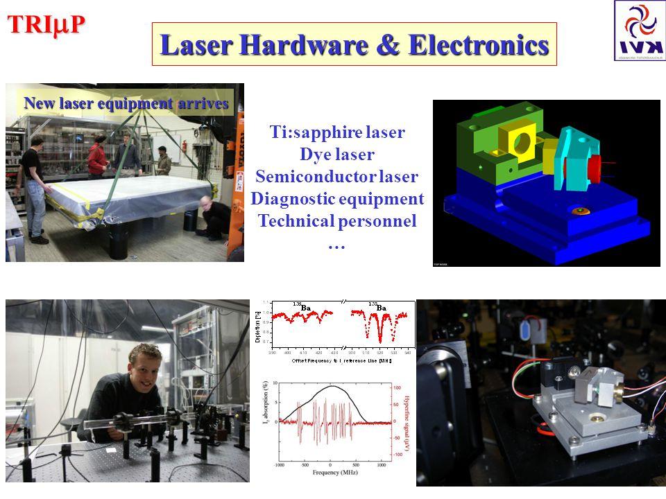 TRI  P Laser Hardware & Electronics New laser equipment arrives Ti:sapphire laser Dye laser Semiconductor laser Diagnostic equipment Technical personnel …