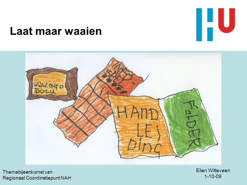 Ellen Witteveen 1-10-09 Themabijeenkomst van Regionaal Coordinatiepunt NAH Laat maar waaien