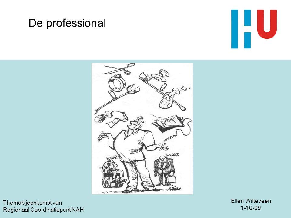 Ellen Witteveen 1-10-09 Themabijeenkomst van Regionaal Coordinatiepunt NAH De professional
