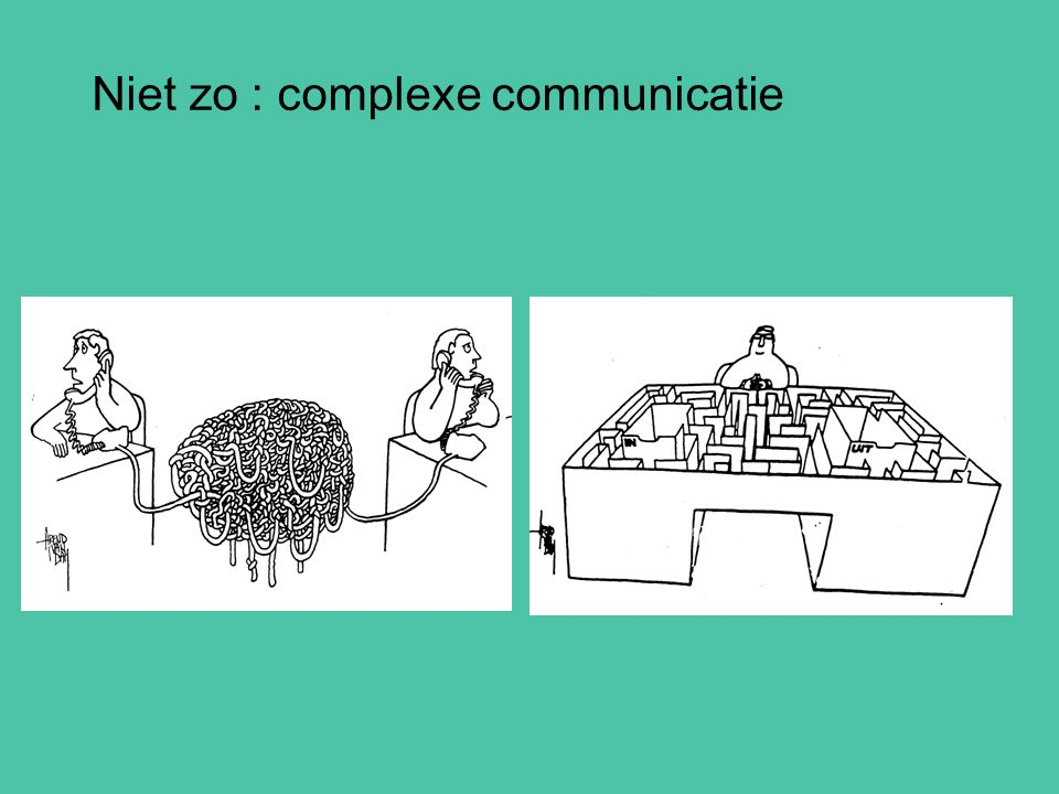 Niet zo : complexe communicatie