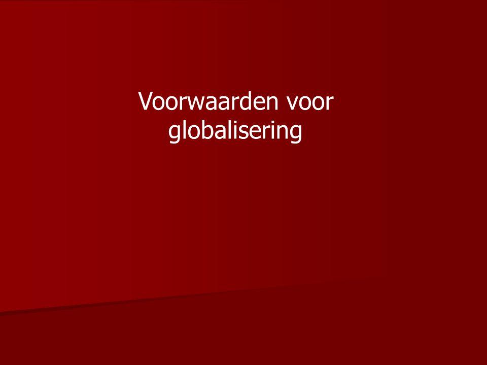 Voorwaarden voor globalisering