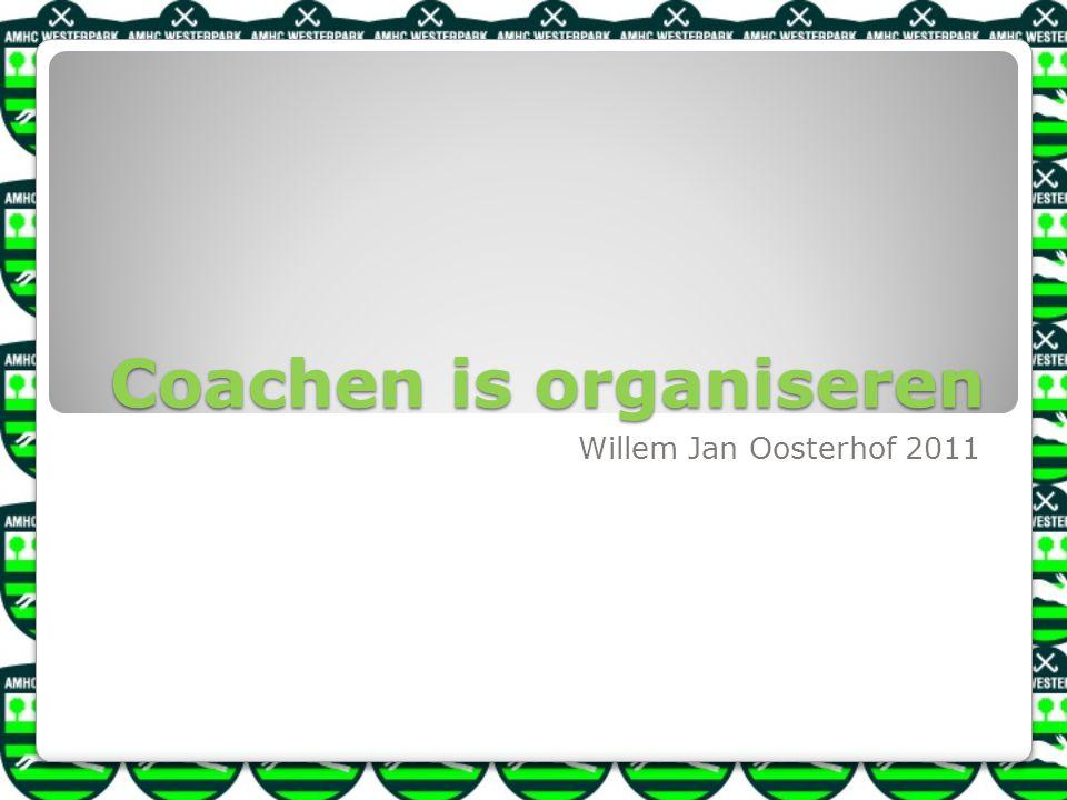 Coachen is organiseren Willem Jan Oosterhof 2011