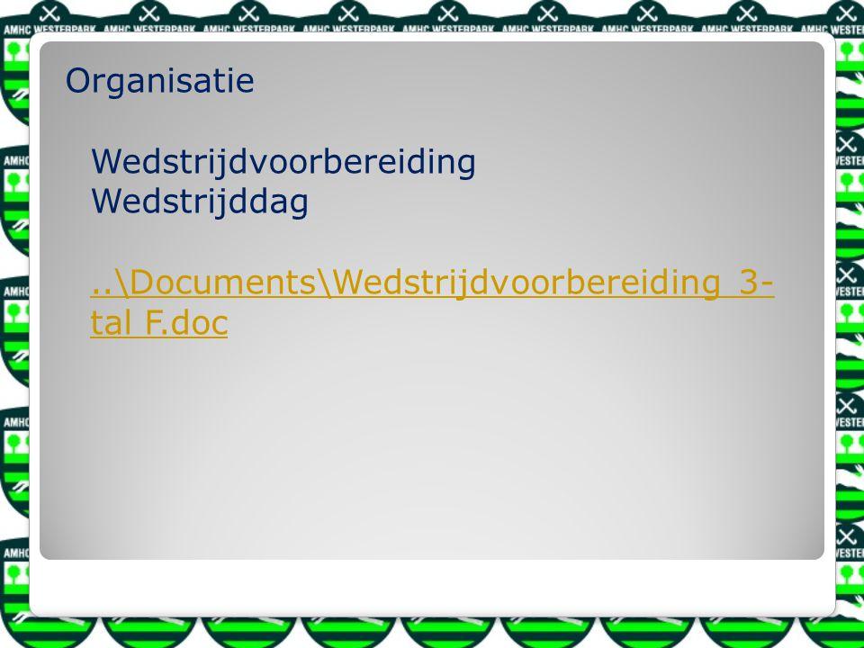 Organisatie Wedstrijdvoorbereiding Wedstrijddag..\Documents\Wedstrijdvoorbereiding 3- tal F.doc..\Documents\Wedstrijdvoorbereiding 3- tal F.doc