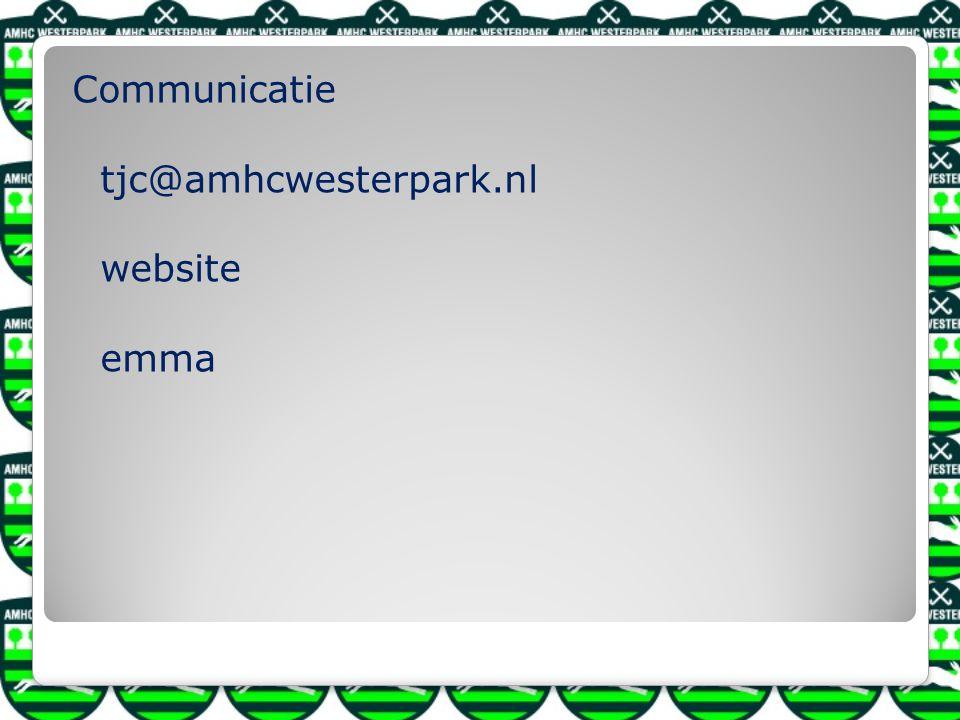 Communicatie tjc@amhcwesterpark.nl website emma