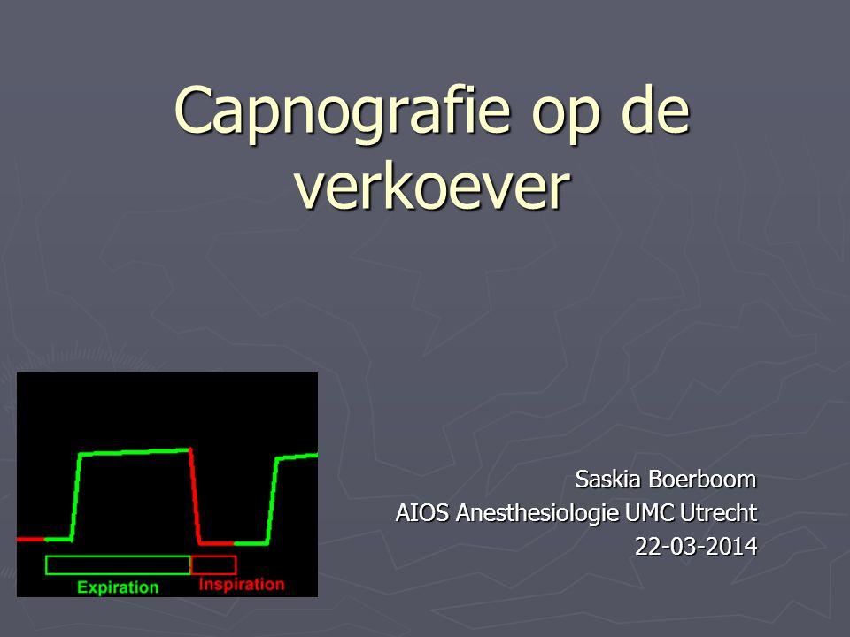 Capnografie op de verkoever Saskia Boerboom AIOS Anesthesiologie UMC Utrecht 22-03-2014