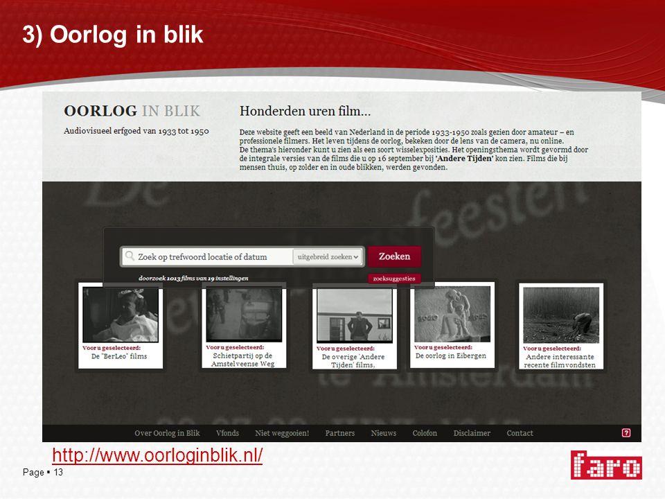 Page  13 3) Oorlog in blik http://www.oorloginblik.nl/