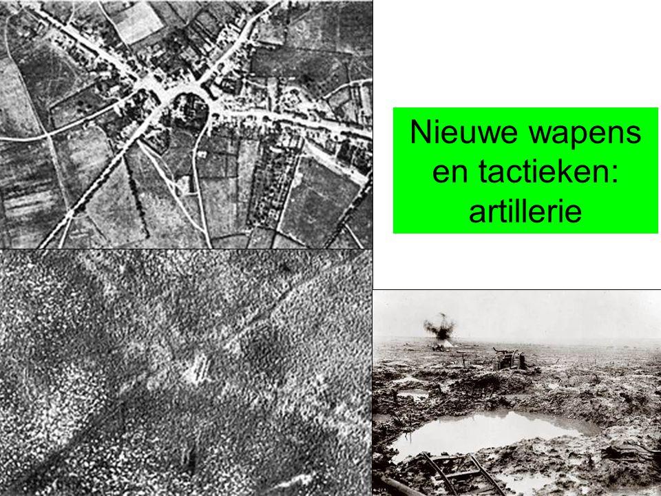 Nieuwe wapens en tactieken: artillerie