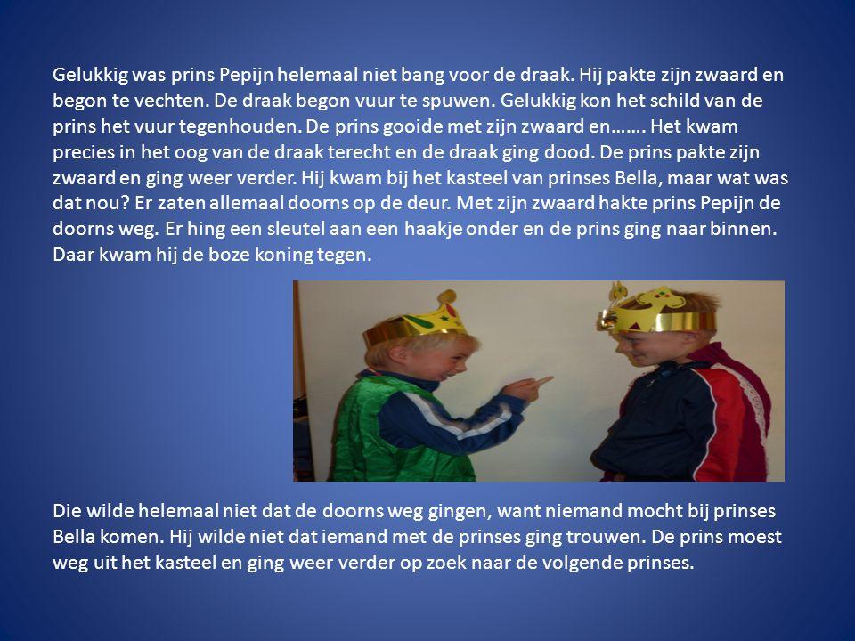Groep 8 Opeens kwam prins Pepijn in een kamertje terecht.