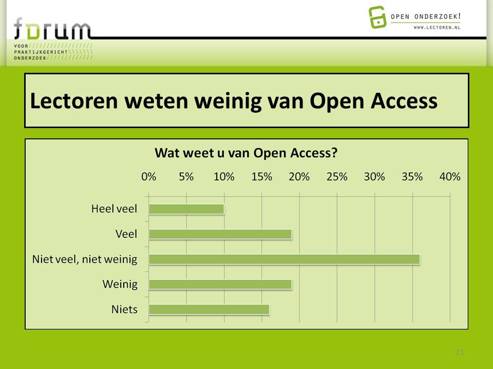 Lectoren weten weinig van Open Access 23