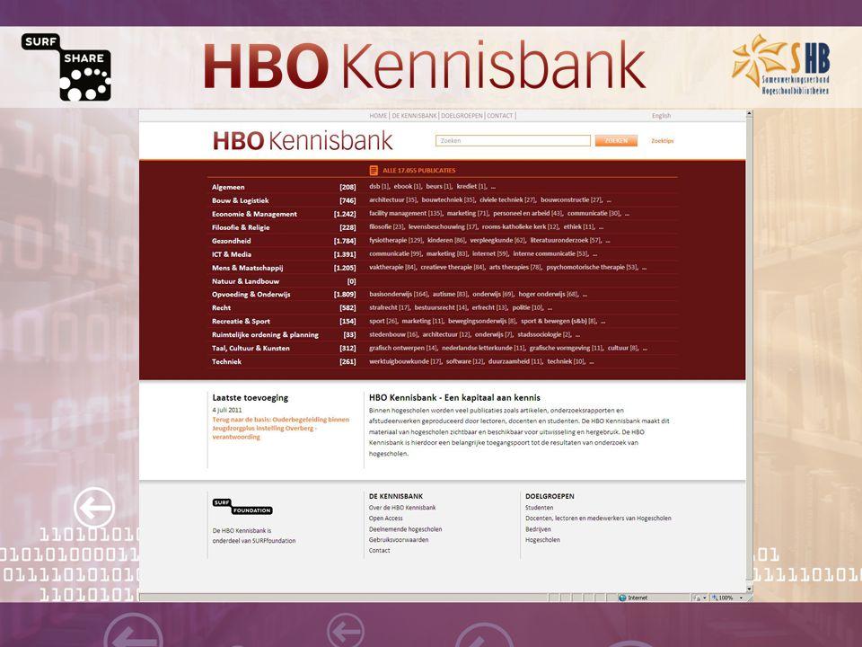 Daarom HBO Kennisbank Veelzijdig, actueel, gratis Kennisuitwisseling met beroepspraktijk Gemakkelijk oriënteren Over de grenzen kijken Naamsbekendheid Fraude bestrijden