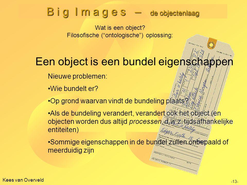 B i g I m a g e s – de objectenlaag Kees van Overveld -13- Wat is een object.